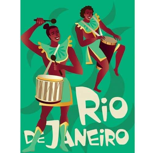 Rio Carnival Banner (green)