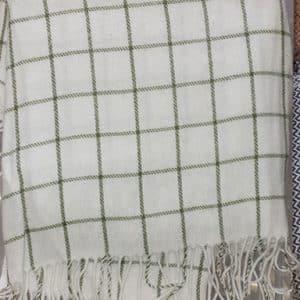 Green Checker Blanket