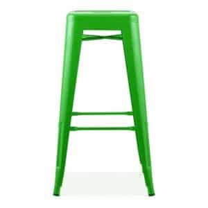 Green Tolix Poseur Stool