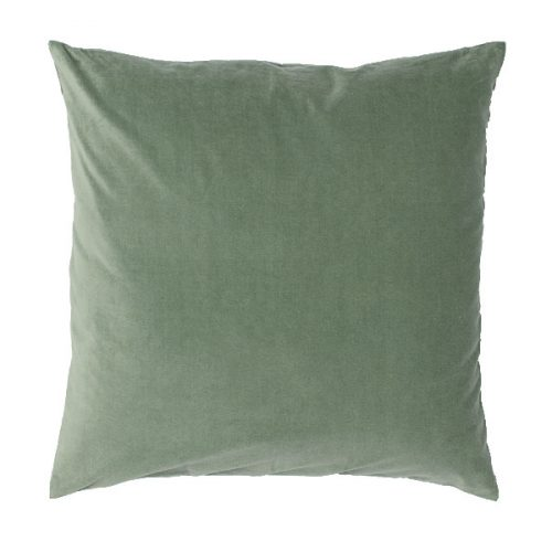 40cm Moss Green Velvet Cushion