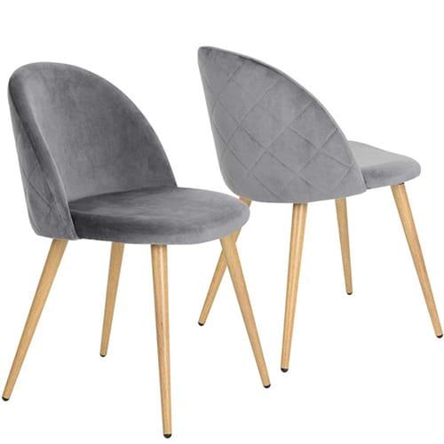 Grey Velvet Chair