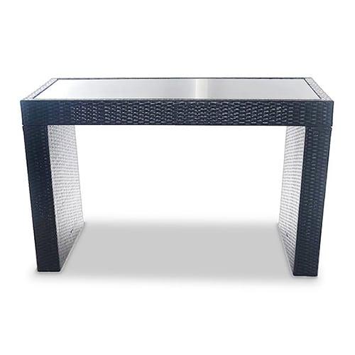 Rattan Grey Poseur Table