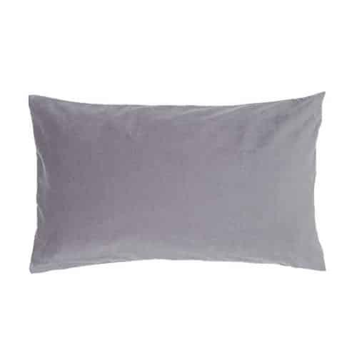 Rectangular Grey Velvet Cushion