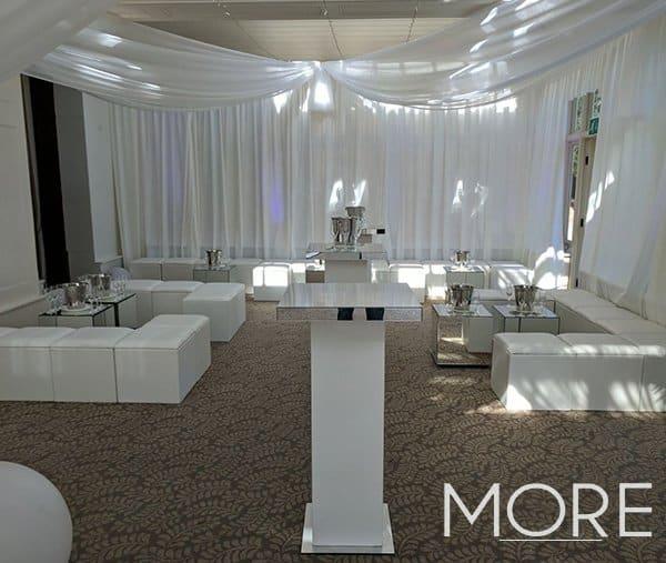 Ibiza wedding white colours furniture range hire