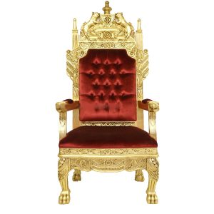 King Throne Gold and Red