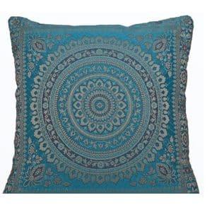 Light Blue Moroccan Cushion
