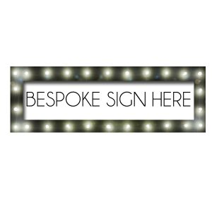 Large Light Up Sign With Custom Insert