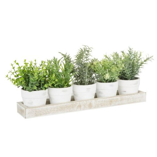 Artificial Mixed Herb Tray