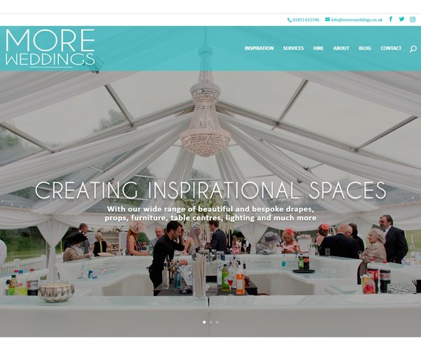 More Weddings website screenshot