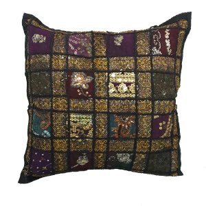 Moroccan Sequined Black Cushion