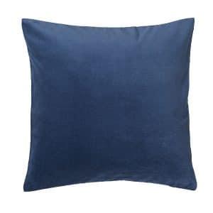40cm Dark Blue Velvet Cushion