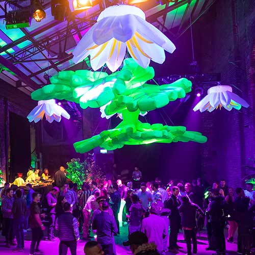 Neon Inflatable Leaf