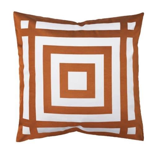 50cm Geometric Copper Cushion
