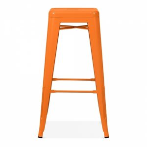 Orange Tolix Poseur Stool
