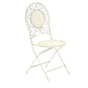 Cream Ornate Garden Chair