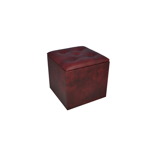 Oxblood Chesterfield Cube Seat