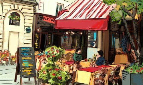 Paris Cafe Scene