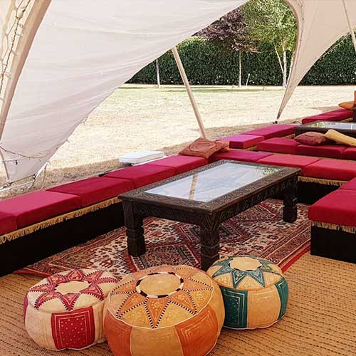 Moroccan Red Pouffes
