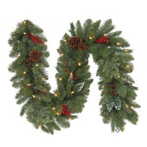 Pre Lit Berry Fir Christmas Garland 6ft