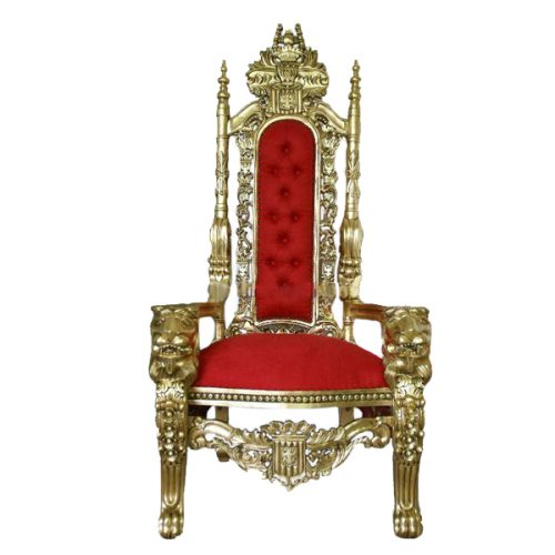 Queen Throne Gold and Red
