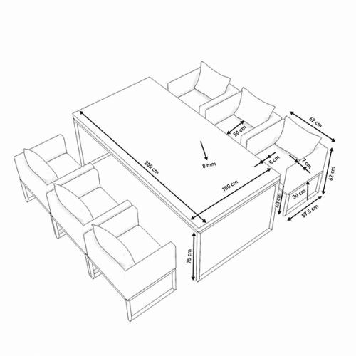 Rattan Grey Dining Chair