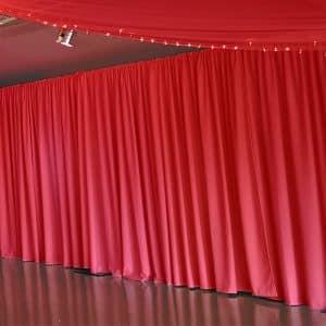 1m X 3m Red Rippled Drapes Per Meter