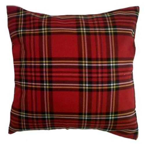 40cm Red Tartan Cushion