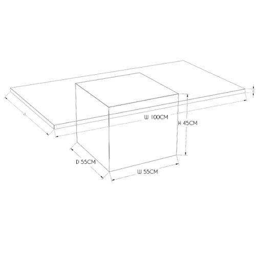 Reflections Rectangular Coffee Table