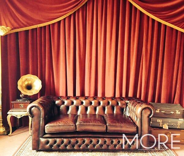 red rippled wall drape 1920 backdrop
