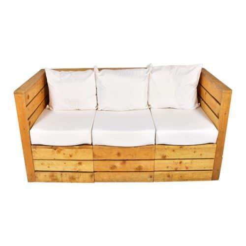 Rustic 3 Seater Sofa