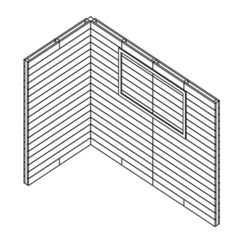 Single Pallet Wall Stand