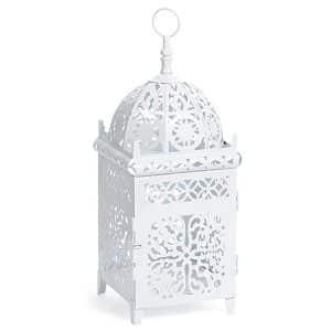 White Moroccan Dome Small Lantern