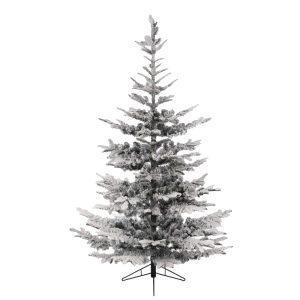 8ft Snow Flocked Fir Tree