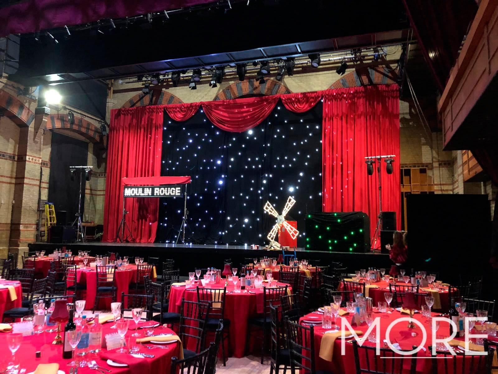 Moulin rouge starcloth backdrop drape