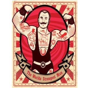Strongest Man Circus Poster 2mx3m