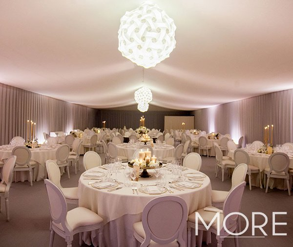 Marquee wedding pleated wall drape and tack off linings ceiling drape