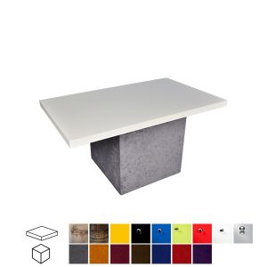 Velour Touch Rectangular Coffee Table