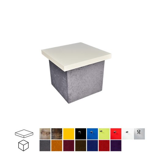 Velour Touch Square Coffee Table