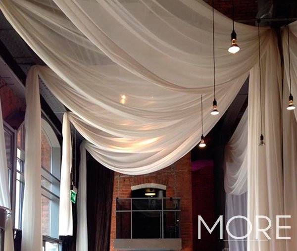Vertical celling drapes
