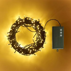 20m Battery Fairy lights (Green Cable)