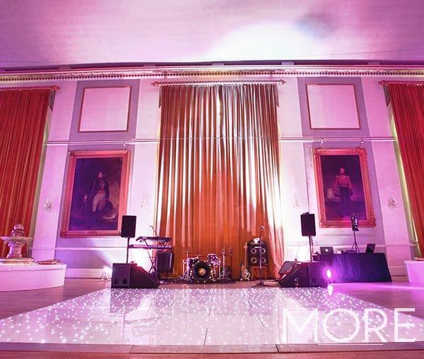 White LED Starlight dance floor wedding hire