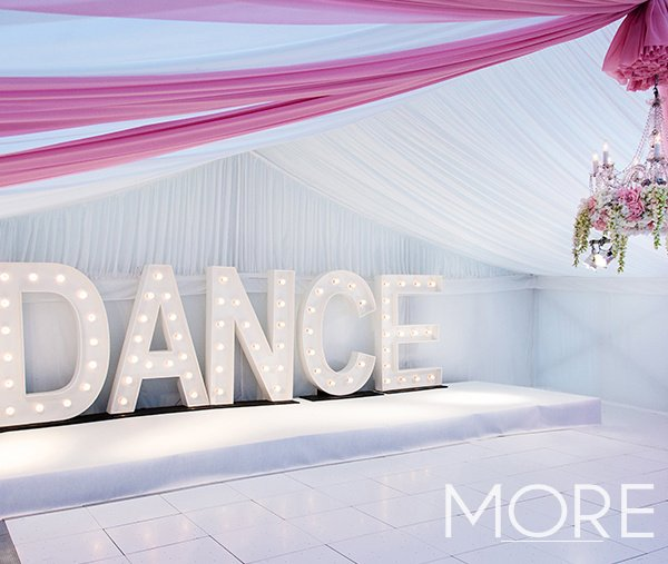 White LED Starlight Dance Floor Marquee wedding