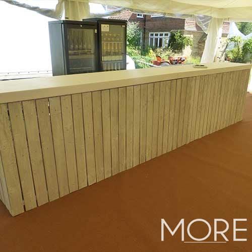 2m White Wash Bar