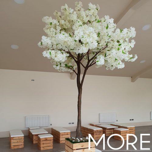 3m White Blossom Tree