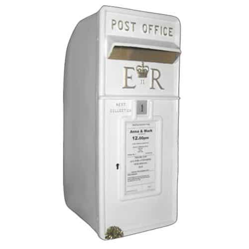White Postbox