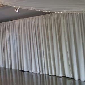 1m X 2.4m White Rippled Drapes Per Meter