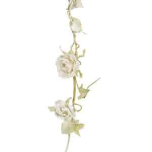 Dusty White Rose Garland