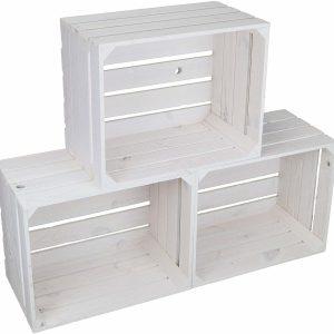 White Apple Crate