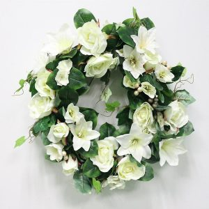 White Rose and Lilly Garland
