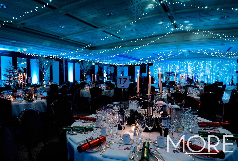 Winter wonderland Christmas party bright white fairy light curtain